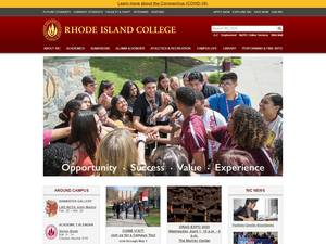 Rhode Island College Screenshot
