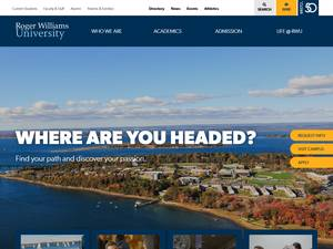 Roger Williams University's Website Screenshot
