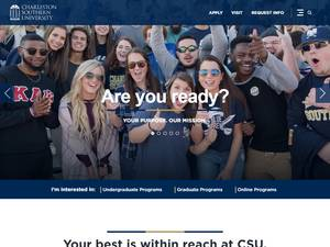 Charleston Southern University's Website Screenshot