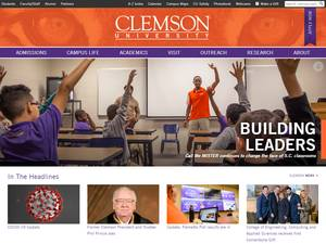 Clemson University's Website Screenshot