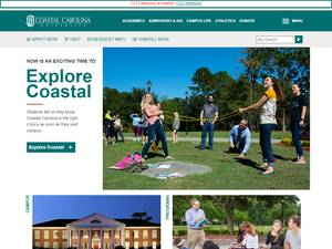 Coastal Carolina University Screenshot