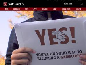 University of South Carolina's Website Screenshot