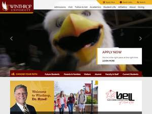 Winthrop University Screenshot