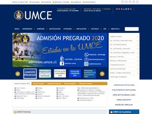 Universidad Metropolitana de Ciencias de la Educación's Website Screenshot