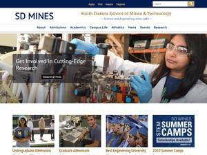 South Dakota School of Mines and Technology's Website Screenshot