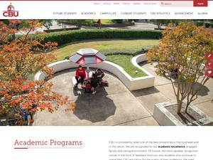 Christian Brothers University's Website Screenshot