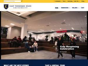 East Tennessee State University's Website Screenshot