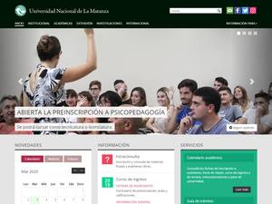 National University of La Matanza Screenshot