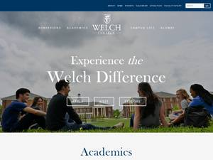 Welch College's Website Screenshot