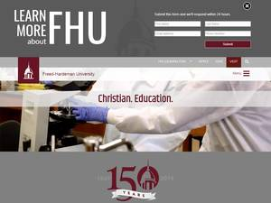 Freed-Hardeman University's Website Screenshot