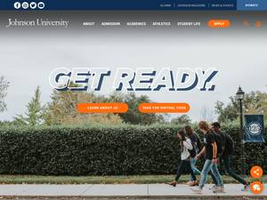 Johnson University's Website Screenshot