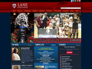 Lane College's Website Screenshot