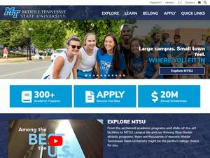 Middle Tennessee State University's Website Screenshot