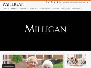 Milligan University's Website Screenshot