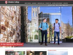Rhodes College's Website Screenshot