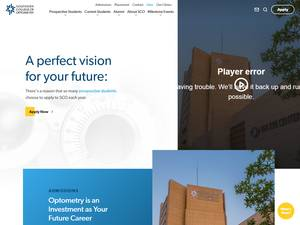 Southern College of Optometry Screenshot