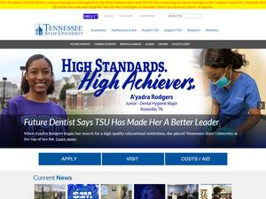 Tennessee State University's Website Screenshot