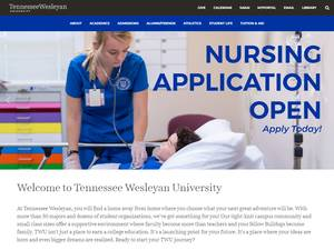 Tennessee Wesleyan University's Website Screenshot