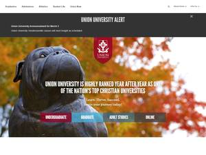 Union University's Website Screenshot