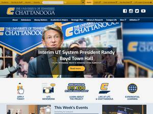 The University of Tennessee at Chattanooga's Website Screenshot