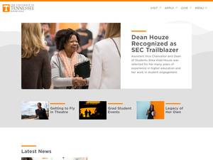The University of Tennessee, Knoxville's Website Screenshot