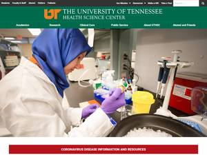 The University of Tennessee Health Science Center's Website Screenshot