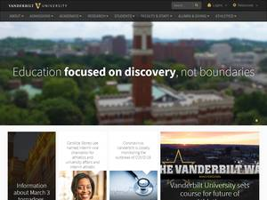 Vanderbilt University's Website Screenshot