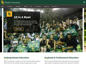 Baylor University's Website Screenshot