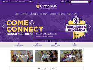 Concordia University Texas's Website Screenshot