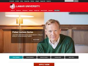 Lamar University's Website Screenshot