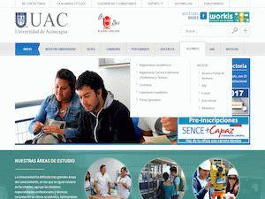 Universidad de Aconcagua's Website Screenshot