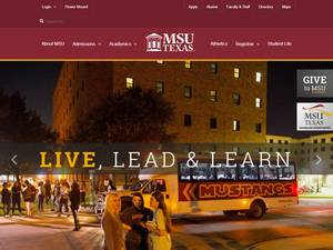 Midwestern State University's Website Screenshot