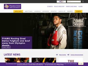 Prairie View A&M University's Website Screenshot