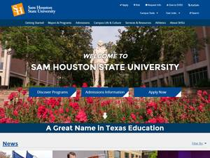 Sam Houston State University's Website Screenshot