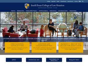 South Texas College of Law's Website Screenshot