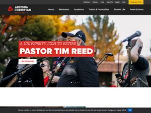 Arizona Christian University's Website Screenshot