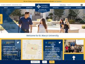 St. Mary's University's Website Screenshot