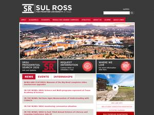 Sul Ross State University's Website Screenshot