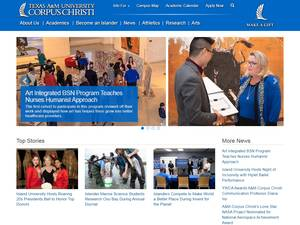 Texas A&M University-Corpus Christi's Website Screenshot