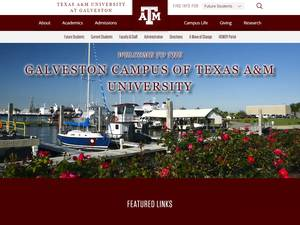 Texas A&M University at Galveston's Website Screenshot
