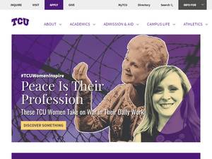 Texas Christian University's Website Screenshot