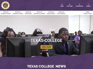 Texas College's Website Screenshot