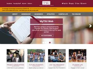Texas Southern University's Website Screenshot