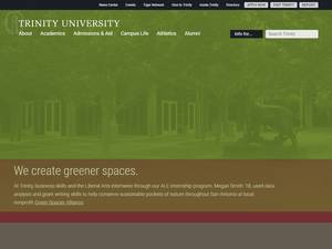 Trinity University's Website Screenshot