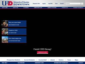 University of Houston-Downtown's Website Screenshot