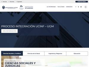 Universidad UCINF's Website Screenshot