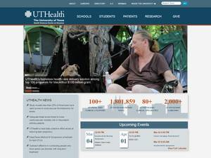 The University of Texas Health Science Center at Houston's Website Screenshot
