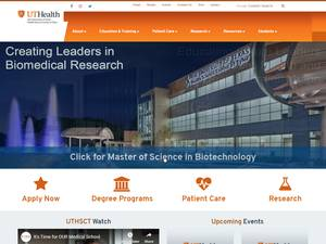 The University of Texas Health Science Center at Tyler's Website Screenshot