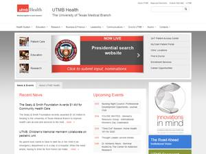 The University of Texas Medical Branch at Galveston's Website Screenshot