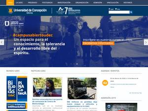 Universidad de Concepción's Website Screenshot